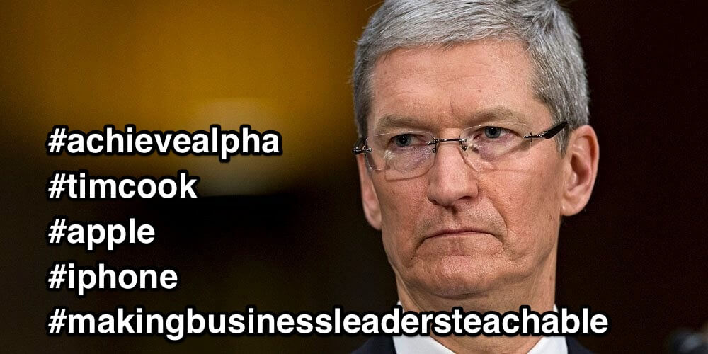 It's as if Tim Cook can't understand why customers would want anything else…